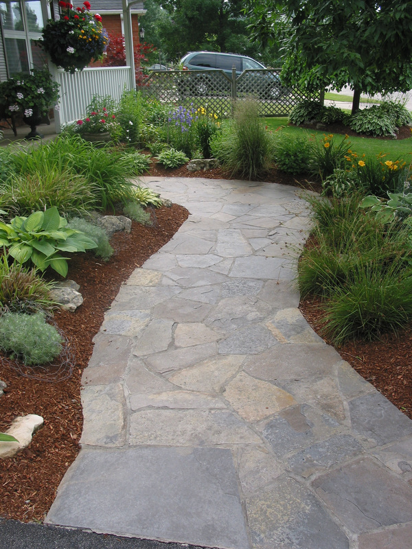 Flagstone Path Designs : Flagstone walkway design decoration